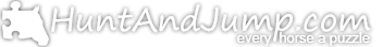 HuntAndJump.com Logo : Every Horse A Puzzle